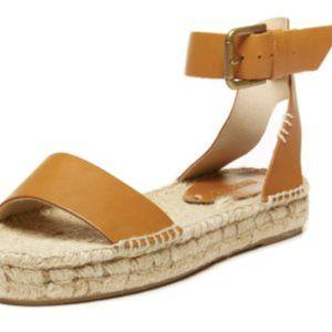 Soludos Espadrille Tan Platform Sandals w/ Buckle